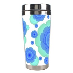 Retro Style Decorative Abstract Pattern Stainless Steel Travel Tumbler