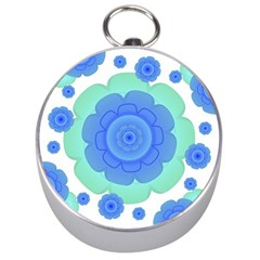 Retro Style Decorative Abstract Pattern Silver Compass