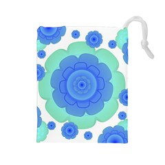 Retro Style Decorative Abstract Pattern Drawstring Pouch (Large)