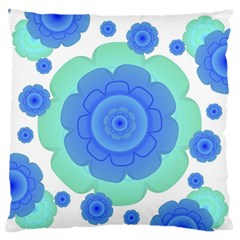 Retro Style Decorative Abstract Pattern Large Flano Cushion Case (One Side)