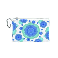 Retro Style Decorative Abstract Pattern Canvas Cosmetic Bag (Small)