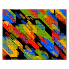 Colorful Shapes On A Black Background Jigsaw Puzzle (rectangular)