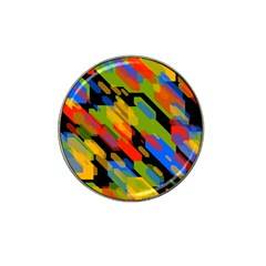 Colorful Shapes On A Black Background Hat Clip Ball Marker