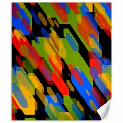 Colorful Shapes On A Black Background Canvas 8  X 10