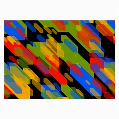 Colorful Shapes On A Black Background Glasses Cloth (large, Two Sides)