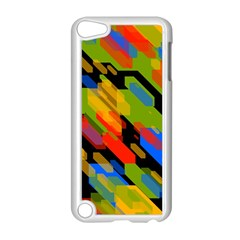 Colorful Shapes On A Black Background Apple Ipod Touch 5 Case (white)