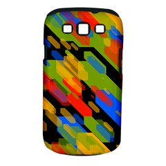 Colorful Shapes On A Black Background Samsung Galaxy S Iii Classic Hardshell Case (pc+silicone)
