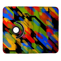 Colorful shapes on a black background Samsung Galaxy Note II Flip 360 Case