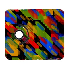Colorful shapes on a black background Samsung Galaxy S  III Flip 360 Case