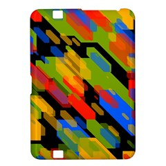Colorful Shapes On A Black Background Kindle Fire Hd 8 9  Hardshell Case