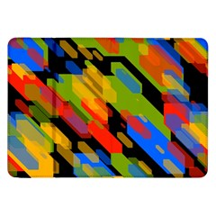 Colorful Shapes On A Black Background Samsung Galaxy Tab 8 9  P7300 Flip Case