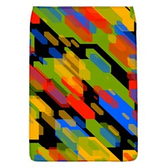 Colorful Shapes On A Black Background Removable Flap Cover (large)