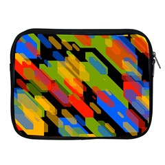 Colorful Shapes On A Black Background Apple Ipad 2/3/4 Zipper Case