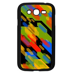 Colorful Shapes On A Black Background Samsung Galaxy Grand Duos I9082 Case (black)