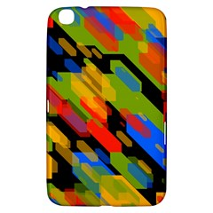 Colorful shapes on a black background Samsung Galaxy Tab 3 (8 ) T3100 Hardshell Case