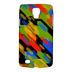 Colorful shapes on a black background Samsung Galaxy S4 Active (I9295) Hardshell Case