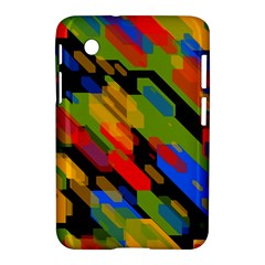 Colorful shapes on a black background Samsung Galaxy Tab 2 (7 ) P3100 Hardshell Case