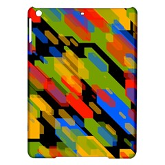 Colorful shapes on a black background Apple iPad Air Hardshell Case