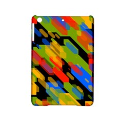 Colorful shapes on a black background Apple iPad Mini 2 Hardshell Case