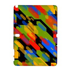 Colorful shapes on a black background Samsung Galaxy Note 10.1 (P600) Hardshell Case