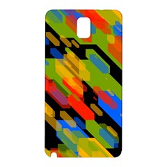 Colorful shapes on a black background Samsung Galaxy Note 3 N9005 Hardshell Back Case