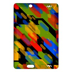 Colorful shapes on a black background Kindle Fire HD (2013) Hardshell Case