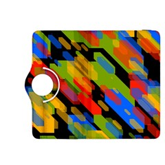 Colorful shapes on a black background Kindle Fire HDX 8.9  Flip 360 Case