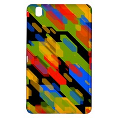 Colorful shapes on a black background Samsung Galaxy Tab Pro 8.4 Hardshell Case