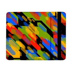 Colorful shapes on a black background Samsung Galaxy Tab Pro 8.4  Flip Case