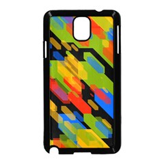 Colorful shapes on a black background Samsung Galaxy Note 3 Neo Hardshell Case (Black)