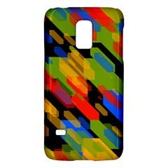 Colorful shapes on a black background Samsung Galaxy S5 Mini Hardshell Case