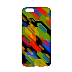 Colorful shapes on a black background Apple iPhone 6 Hardshell Case