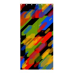 Colorful shapes on a black background Shower Curtain 36  x 72  (Stall)
