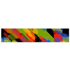 Colorful shapes on a black background Flano Scarf (Small)