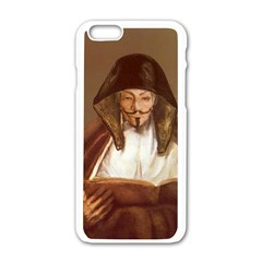 Anonymous Reading Apple iPhone 6 White Enamel Case