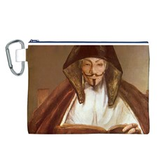 Anonymous Reading Canvas Cosmetic Bag (large)