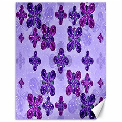 Deluxe Ornate Pattern Design in Blue and Fuchsia Colors Canvas 18  x 24  (Unframed)