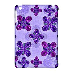 Deluxe Ornate Pattern Design in Blue and Fuchsia Colors Apple iPad Mini Hardshell Case (Compatible with Smart Cover)