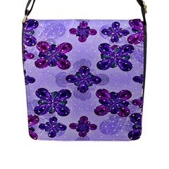 Deluxe Ornate Pattern Design In Blue And Fuchsia Colors Flap Closure Messenger Bag (large)