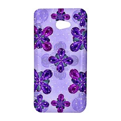 Deluxe Ornate Pattern Design in Blue and Fuchsia Colors HTC Butterfly S Hardshell Case