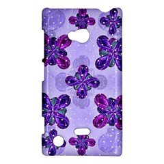 Deluxe Ornate Pattern Design In Blue And Fuchsia Colors Nokia Lumia 720 Hardshell Case