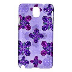 Deluxe Ornate Pattern Design In Blue And Fuchsia Colors Samsung Galaxy Note 3 N9005 Hardshell Case