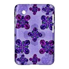 Deluxe Ornate Pattern Design in Blue and Fuchsia Colors Samsung Galaxy Tab 2 (7 ) P3100 Hardshell Case