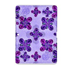 Deluxe Ornate Pattern Design In Blue And Fuchsia Colors Samsung Galaxy Tab 2 (10 1 ) P5100 Hardshell Case