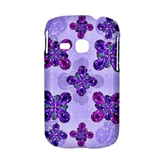 Deluxe Ornate Pattern Design in Blue and Fuchsia Colors Samsung Galaxy S6310 Hardshell Case