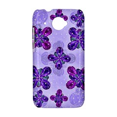 Deluxe Ornate Pattern Design in Blue and Fuchsia Colors HTC Desire 601 Hardshell Case