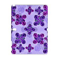 Deluxe Ornate Pattern Design in Blue and Fuchsia Colors Samsung Galaxy Note 10.1 (P600) Hardshell Case