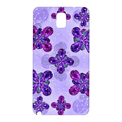 Deluxe Ornate Pattern Design In Blue And Fuchsia Colors Samsung Galaxy Note 3 N9005 Hardshell Back Case