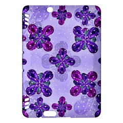 Deluxe Ornate Pattern Design in Blue and Fuchsia Colors Kindle Fire HDX Hardshell Case