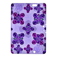 Deluxe Ornate Pattern Design in Blue and Fuchsia Colors Kindle Fire HDX 8.9  Hardshell Case